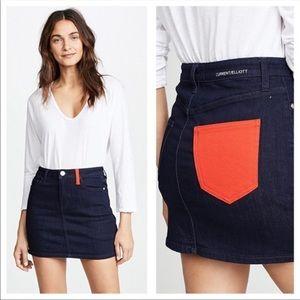 Current/Elliott denim mini skirt Sz 30 NWT